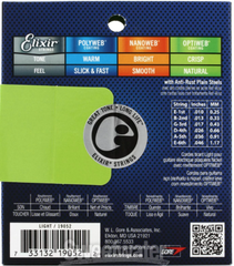 Elixir 19052 Optiweb Electric Guitar Strings