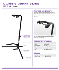 On Stage Guitar Stand specs