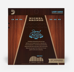 D'addario NB1253 Nickel Bronze acoustic guitar strings