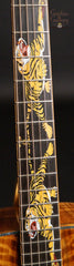 Leach guitar with tiger fretboard inlays
