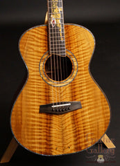 Flame Millennium Redwood top on Leach guitar