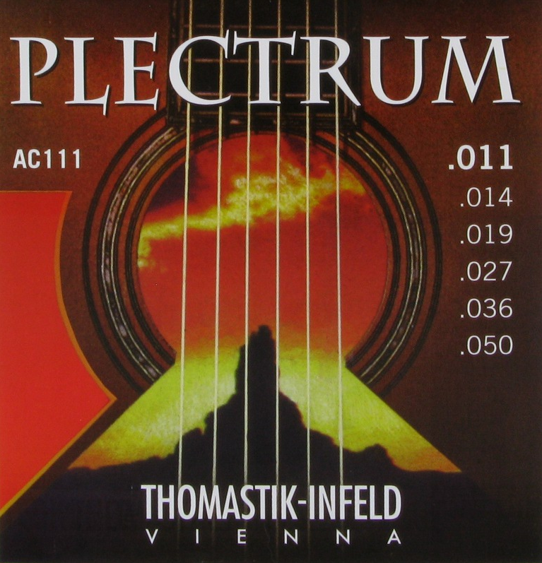 Thomastik-Infeld Guitar: Lights or Med-lights Plectrum Acoustic Strings