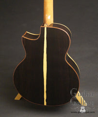 Baranik JX Guitar African Blackwood back