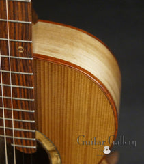 Bent Twig Parlor guitar upper bout