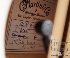Martin white Eric Clapton guitar label
