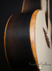Lowden Ancient Bog F50c guitar side detail