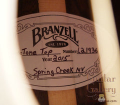 Branzell Tone Top Guitar label