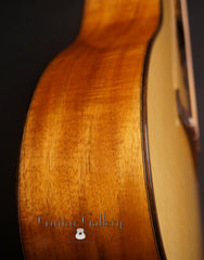 Brondel D-1c Koa guitar side detail
