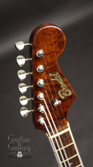 Brondel Honeycaster DC electric guitar headstock