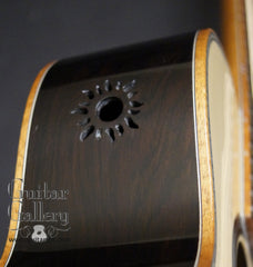 Tim Reede Parlor guitar side port