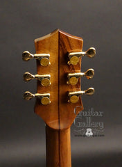 CF Holcomb Vellutini Archtop headstock back