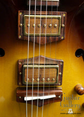 CF Holcomb Vellutini Archtop detail