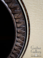 Gerber guitar with chip carved rosette close up