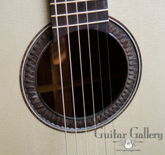 Gerber guitar with chip carved rosette