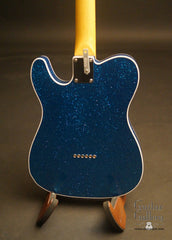 Crook T-style electric guitar blue sparkle back