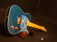 Crook T-style Blue Sparkle electric guitar