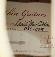 MacCubbin guitar label