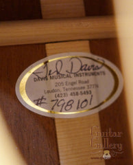 Ted Davis guitar label