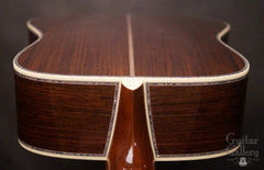 Martin D-45 guitar down back view