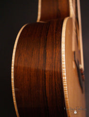 Elysian guitar Madagascar rosewood side detail