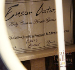 Ensor ES guitar label