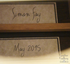 Simon Fay guitar labels