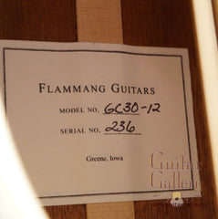 Flammang 12 String guitar label