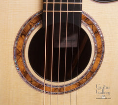 Greenfield G2 guitar spalted rosette