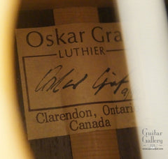 Oskar Graf OMc guitar label