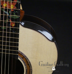 Greenfield Guitar Gallery 20th anniversary Guitar upper bout