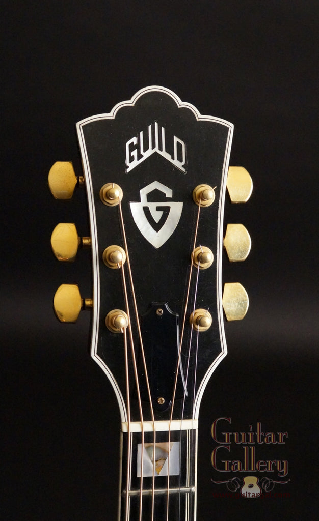 Guild F50 NT guitar headstock