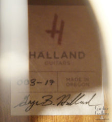Halland OM guitar label