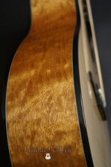Halland OM guitar side detail