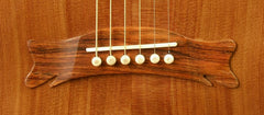 Hewett OM guitar with Brazilian rosewood bridge
