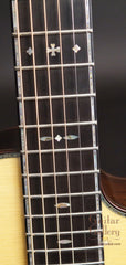 Ryan Abbey Parlor Guitar fretboard