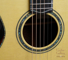 Ryan Abbey Parlor Guitar rosette