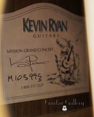 Ryan Mission GC guitar label