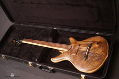 William Jeffrey Jones Kronos Fretless guitar inside case