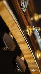 Kim Walker archtop headstock detail
