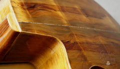 L R Williams classical guitar flame ancient kauri back
