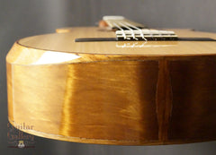 L R Williams classical guitar end view