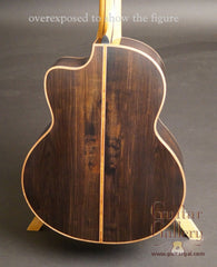 Lowden F50c African Blackwood guitar back