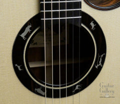 Maingard guitar sterling silver inlaid rosette