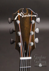 Marchione archtop guitar headstock