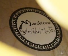 Marchione archtop guitar label
