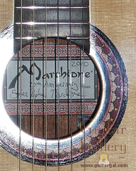 Marchione classical guitar label