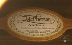McPherson MG-4.5 XPH Guitar label