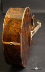 McPherson Flamed Black Redwood Top Guitar end graft