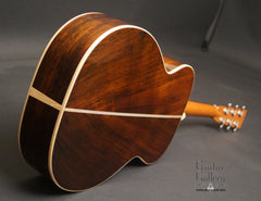 McKnight Highlander Vintage Brazilian rosewood guitar glam shot back