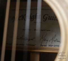 McKnight guitar label